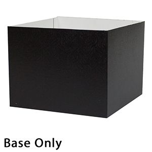 "8"" x 8"" x 6"", Black Base, Hi Wall 2 Piece Gift Box"
