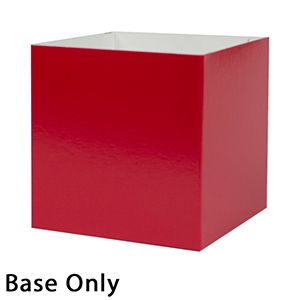 "8"" x 8"" x 6"", Red Base, Hi Wall 2 Piece Gift Box"