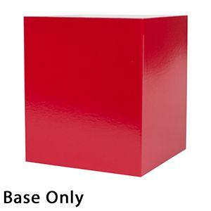 "8"" x 8"" x 9"", Red Base, Hi Wall 2 Piece Gift Box"