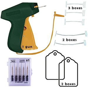 Tagging Gun, Barbs, Needles & Price Tags Package