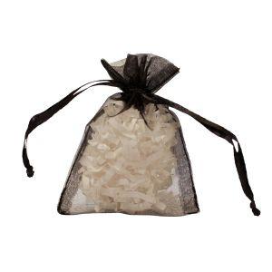 """Flat Organza Bags, Black, 3"""" x 4"""""""
