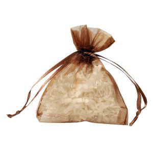 "Flat Organza Bags, Copper, 3"" x 4"""