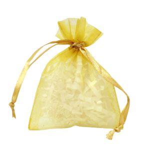"Flat Organza Bags, Gold, 3"" x 4"""