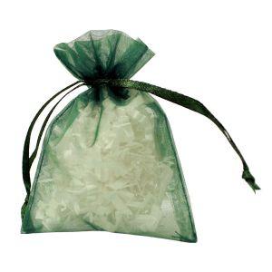 "Flat Organza Bags, Hunter Green, 3"" x 4"""
