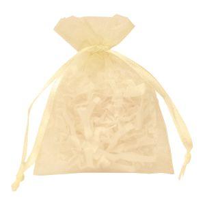 "Flat Organza Bags, Ivory, 3"" x 4"""