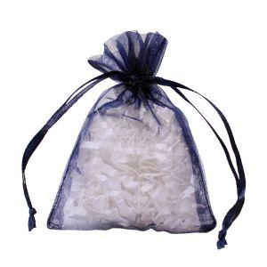 "Flat Organza Bags, Navy, 3"" x 4"""