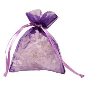 """Flat Organza Bags, Purple, 3"""" x 4"""""""