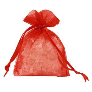 "Flat Organza Bags, Red, 3"" x 4"""