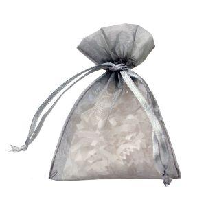 "Flat Organza Bags, Silver, 3"" x 4"""