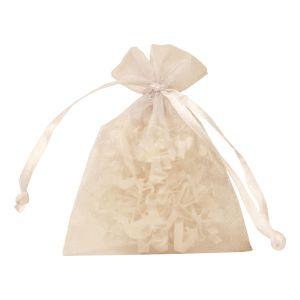 """Flat Organza Bags, White, 3"""" x 4"""""""