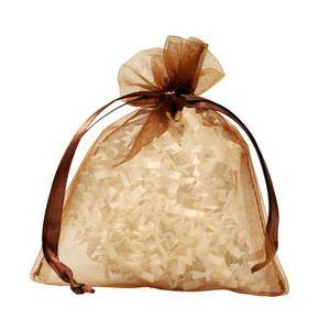 "Flat Organza Bags, Copper, 4"" x 5"""