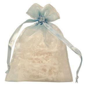 "Flat Organza Bags, Light Blue, 4"" x 5"""
