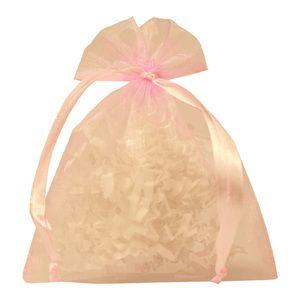 "Flat Organza Bags, Light Pink, 4"" x 5"""