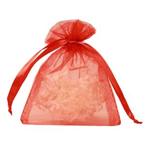 "Flat Organza Bags, Red, 4"" x 5"""