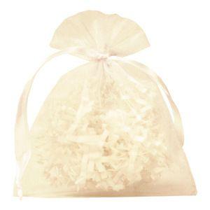 """Flat Organza Bags, White, 4"""" x 5"""""""