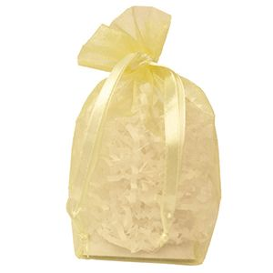 "Gusseted Organza Bags, Baby Maize, 4"" x 6"""