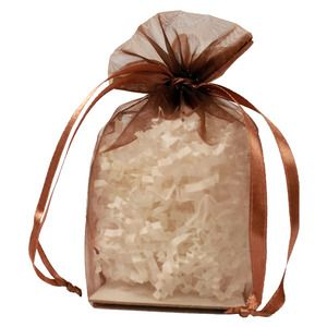 "Gusseted Organza Bags, Copper, 4"" x 6"""