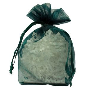 "Gusseted Organza Bags, Hunter Green, 4"" x 6"""