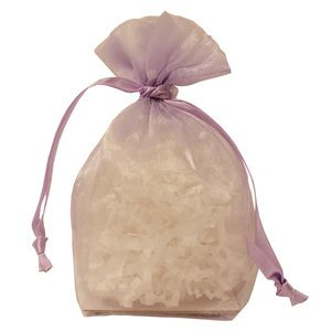 "Gusseted Organza Bags, Lavender, 4"" x 6"""