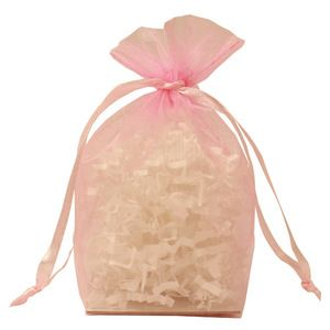 "Gusseted Organza Bags, Light Pink, 4"" x 6"""