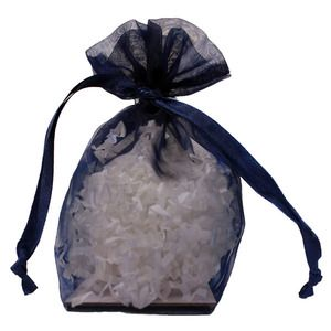 "Gusseted Organza Bags, Navy, 4"" x 6"""