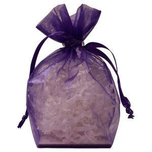 "Gusseted Organza Bags, Purple, 4"" x 6"""