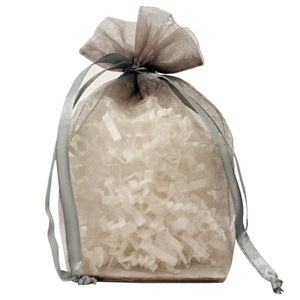 "Gusseted Organza Bags, Silver, 4"" x 6"""