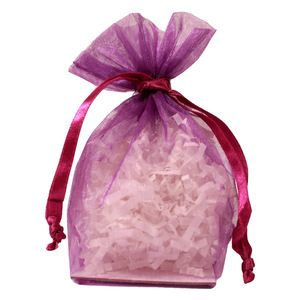"Gusseted Organza Bags, Ultra Violet, 4"" x 6"""