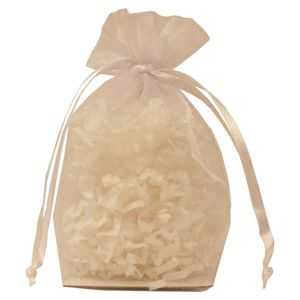 "Gusseted Organza Bags, White, 4"" x 6"""