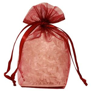 "Gusseted Organza Bags, Burgundy, 4"" x 6"""