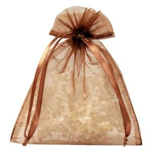 "Flat Organza Bags, Copper, 5"" x 6"""