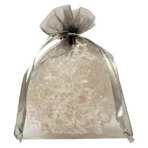 "Flat Organza Bags, Silver, 5"" x 6"""