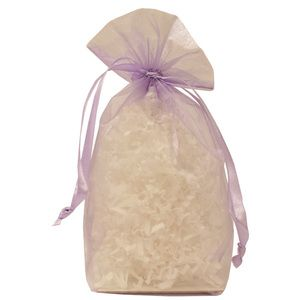"Gusseted Organza Bags, Lavender, 5"" x 8"""