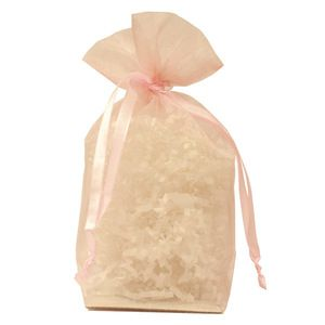 "Gusseted Organza Bags, Light Pink, 5"" x 8"""