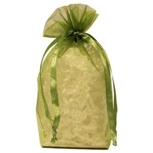 "Gusseted Organza Bags, Olive, 5"" x 8"""