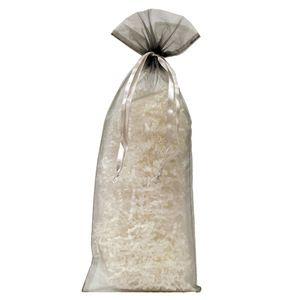 "Flat Organza Bags, Silver, 6"" x 14"""