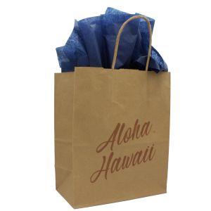 "Medium Shopping Bag, Aloha Hawaii, 8"" x 4.75"" x 10.25"" (Cub)"