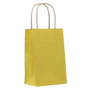 "Yellow, Small Shadow Stripe Paper Shopping Bags, 5-1/2"" x 3-1/4"" x 8-3/8"" (Gem)"