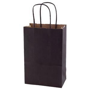 """Noir, Small Recycled Paper Shopping Bags, 5-1/2"""" x 3-1/4"""" x 8-3/8"""" (Gem)"""