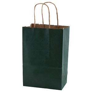"""Evergreen, Small Recycled Paper Shopping Bags, 5-1/2"""" x 3-1/4"""" x 8-3/8"""" (Gem)"""