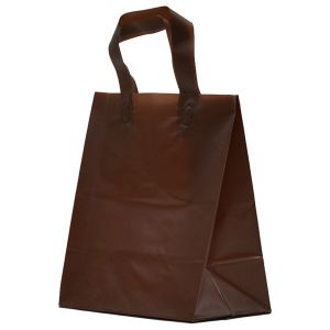 """Espresso Frosted Shoppers with Loop Handles, 8"""" x 5"""" x 10"""" x 5"""""""