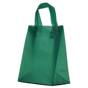 """Evergreen Frosted Shoppers with Loop Handles, 8"""" x 5"""" x 10"""" x 5"""""""