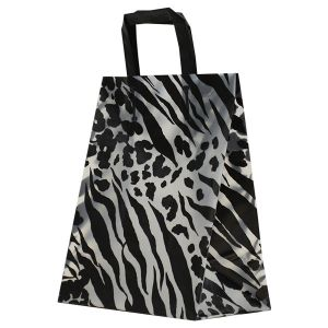 """Skins, Pattern Frosted Shoppers with Handles, 8"""" x 5"""" x 10"""" x 5"""""""