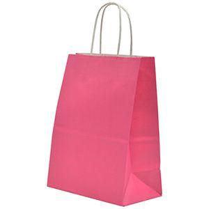 "Cerise, Medium Recycled Paper Shopping Bags, 8"" x 4-3/4"" x 10-1/2"" (Cub)"