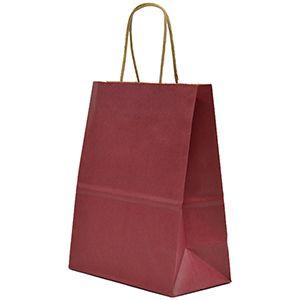 "Cabernet, Medium Recycled Paper Shopping Bags, 8"" x 4-3/4"" x 10-1/2"" (Cub)"