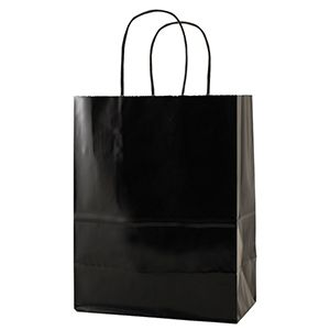 Black, Medium Gloss Paper Shoppers