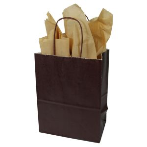 Bronze Coffee, Medium Ice Collection Paper Shoppers