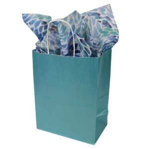 Celestial Blue, Medium Ice Collection Paper Shoppers