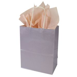 Lavender, Medium Ice Collection Paper Shoppers