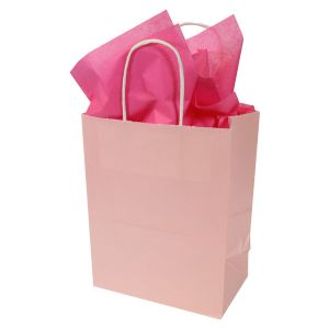 Light Pink, Medium Ice Collection Paper Shoppers